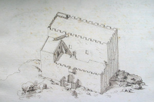 Venetian era sketch of lower fort
