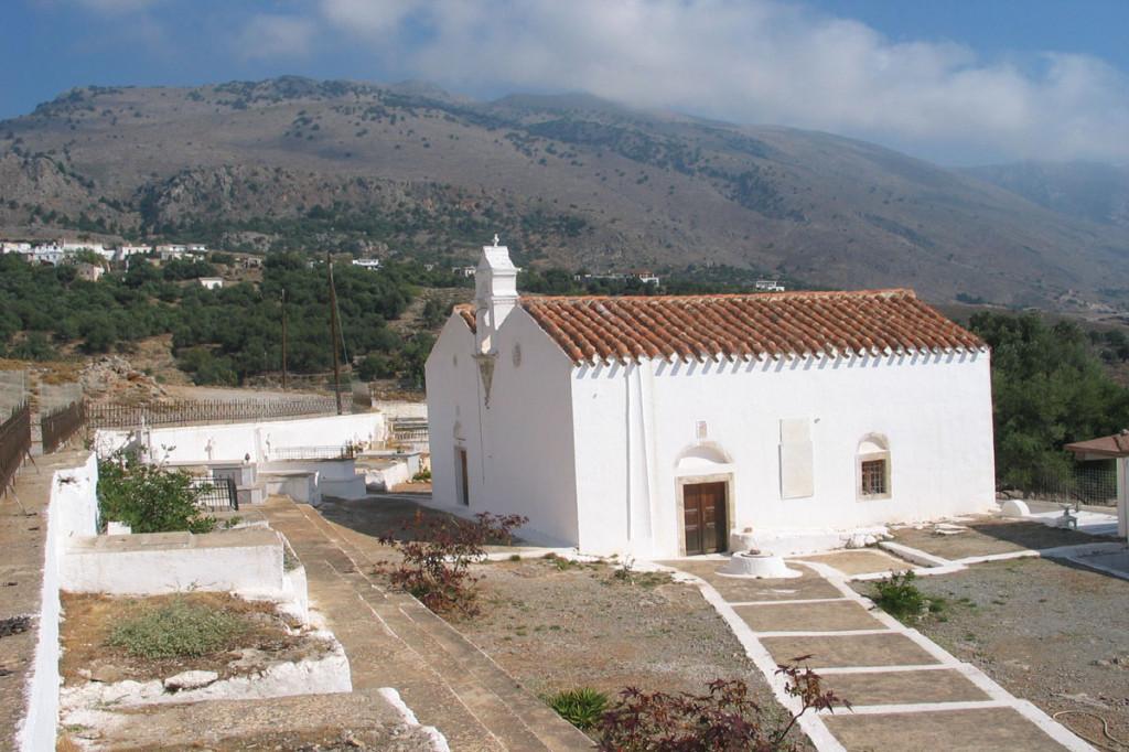 At the church of Panagia Thymniani outside Komitades