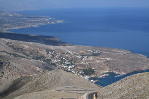 Observation post view to Sfakia and Frangokastello