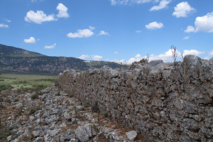 Fort ruins at Agios Dimitrios