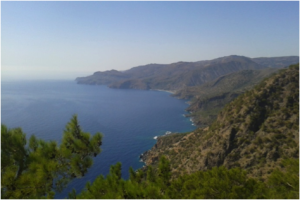 View of Sougia from Profitis Illias